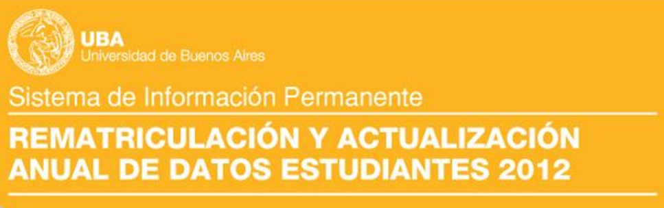Rematriculación y actualización de datos de estudiantes