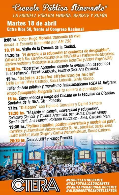 Escuela Pública Itinerante #martes 18/04