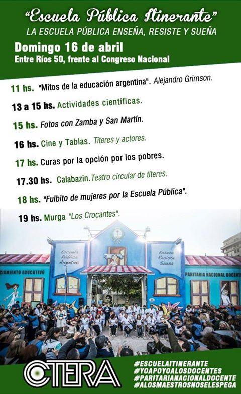 Escuela Pública Itinerante #domingo 16/04