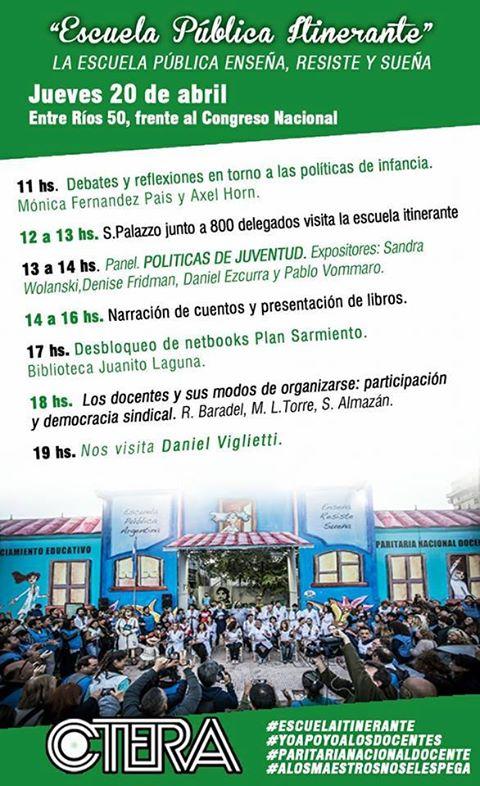 Escuela Pública Itinerante #jueves 20/04