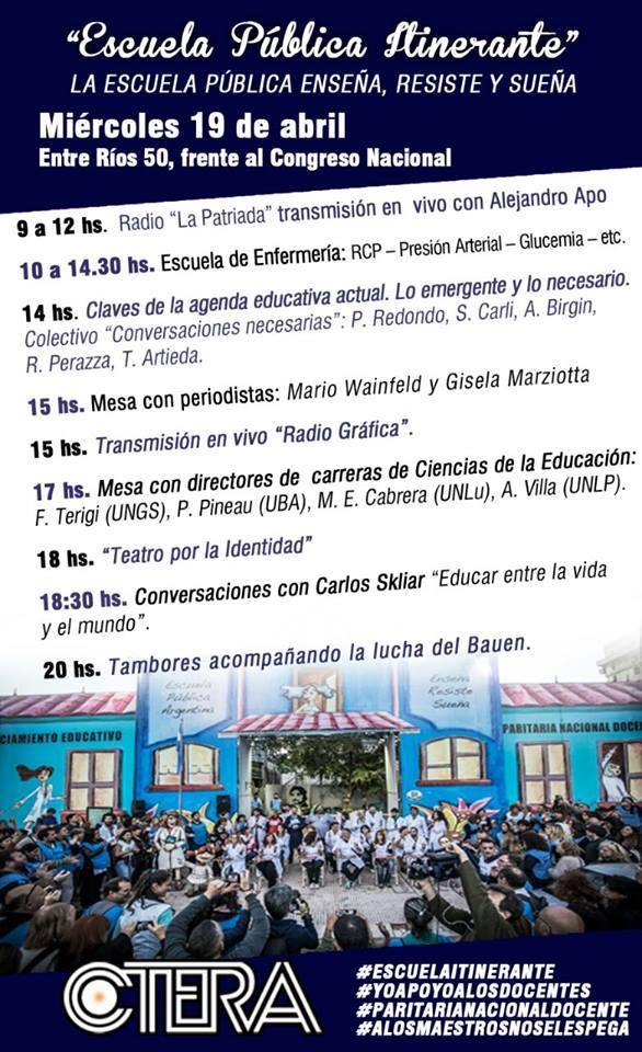 Escuela Pública Itinerante #miércoles 19/04