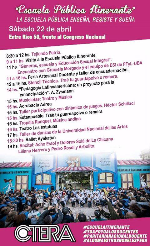 Escuela Pública Itinerante #sábado 22/04