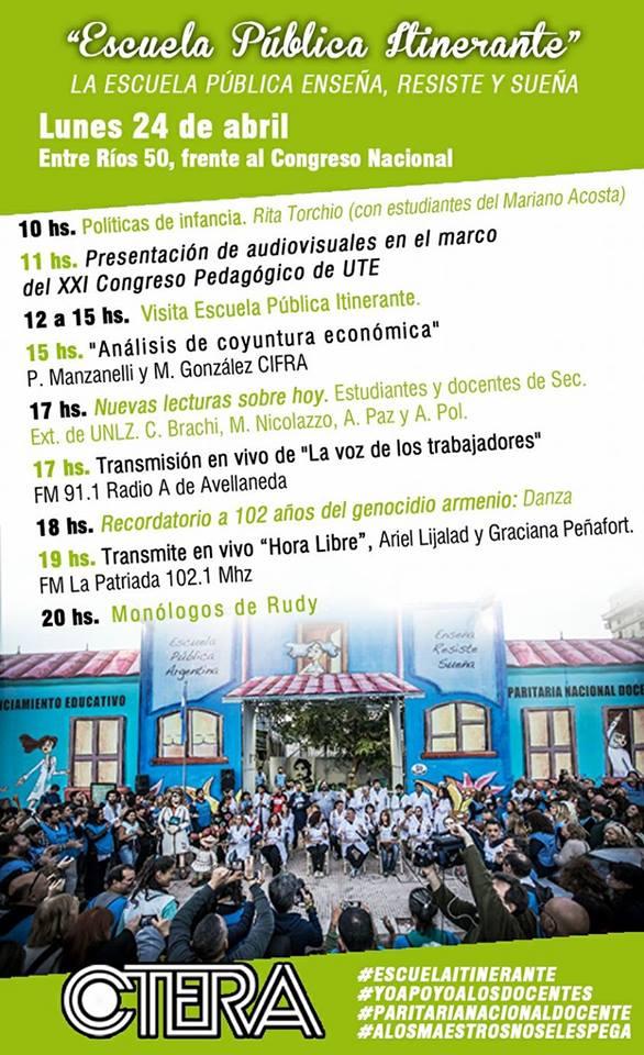 Escuela Pública Itinerante #lunes 24/04