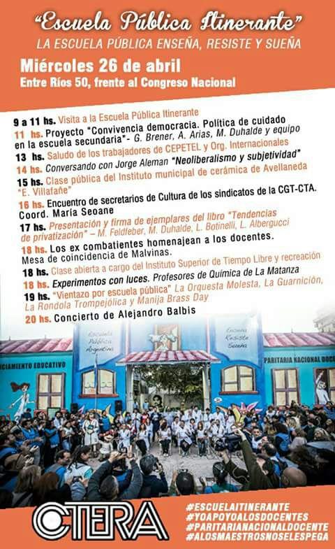 Escuela Pública Itinerante #miércoles 26/04