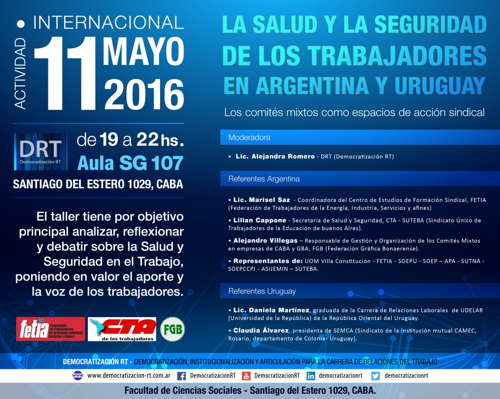 La Salud y la Seguridad de los Trabajadores en Argentina y Uruguay.