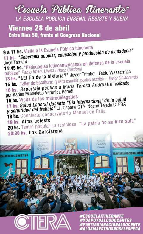 Escuela Pública Itinerante #viernes 28/04
