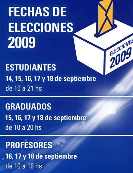 Fechas de Elecciones 2009