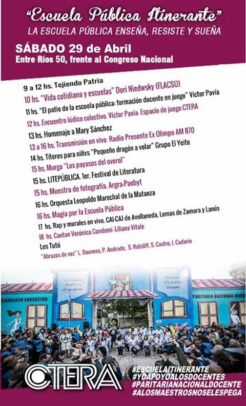 Escuela Pública Itinerante #sábado 29/04