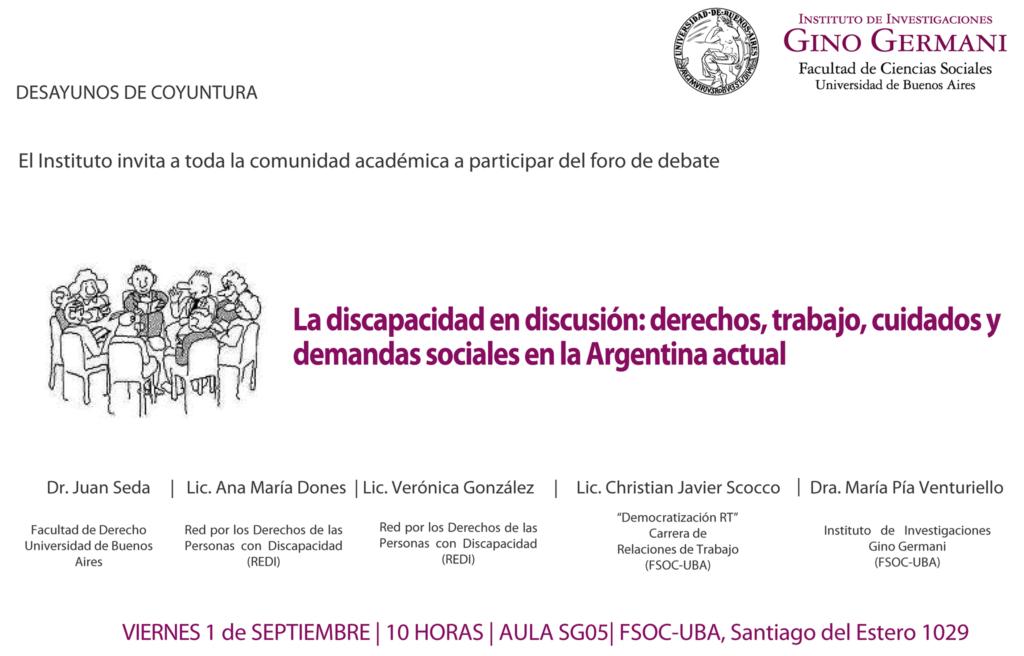 """DESAYUNOS DE COYUNTURA: """"La discapacidad en discusión"""""""