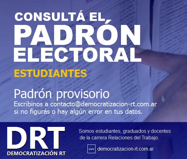 ¡ATENCIÓN! Padrón de Estudiantes #EleccionesFsoc2017