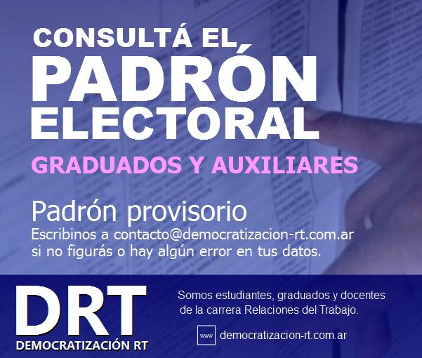 ¡ATENCIÓN! Padrón de Graduados y Auxiliares #EleccionesFsoc2017