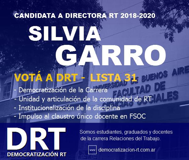 Democratización RT va por la Dirección de la Carrera de RT – Nuestra Propuesta y Candidata