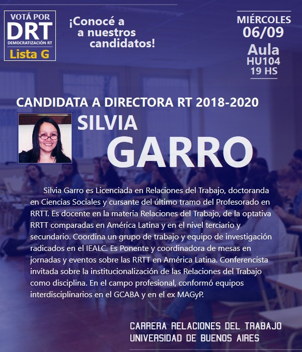Nuestra candidata a Directora de carrera