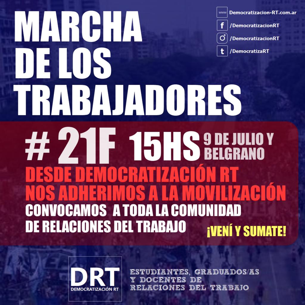 #21F ¡DRT MARCHA!