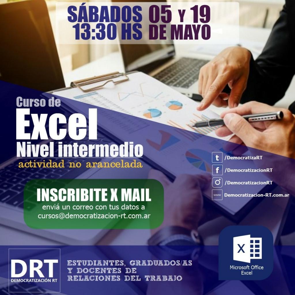 CURSO DE EXCEL – INTERMEDIO –