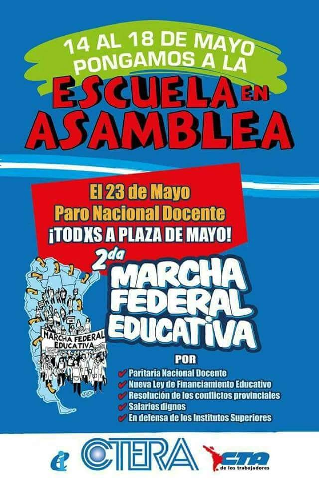 2º Marcha Federal Educativa 23/05/18
