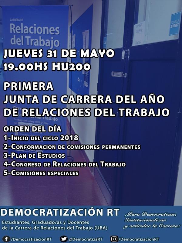 1ra Junta de Carrera – 2018