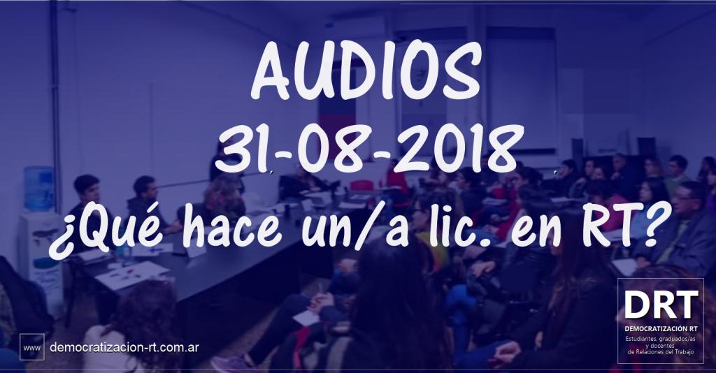 """¡Escuchá """"Qué Hace Un/a Licenciado/a en RT""""!"""