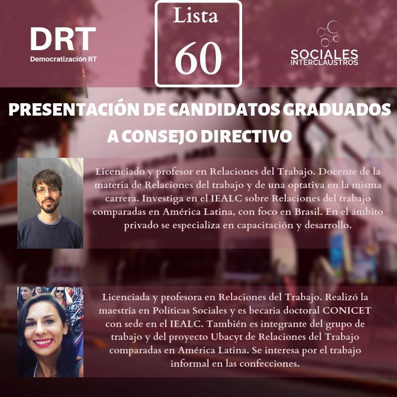 Llevá a DRT al Consejo Directivo con Sociales Interclaustros