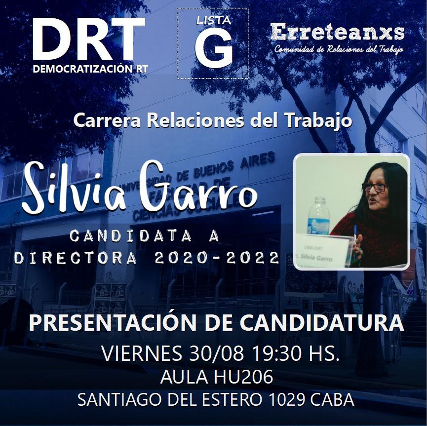 📣 DRT – Presentación de candidatos/as – Elecciones 2019