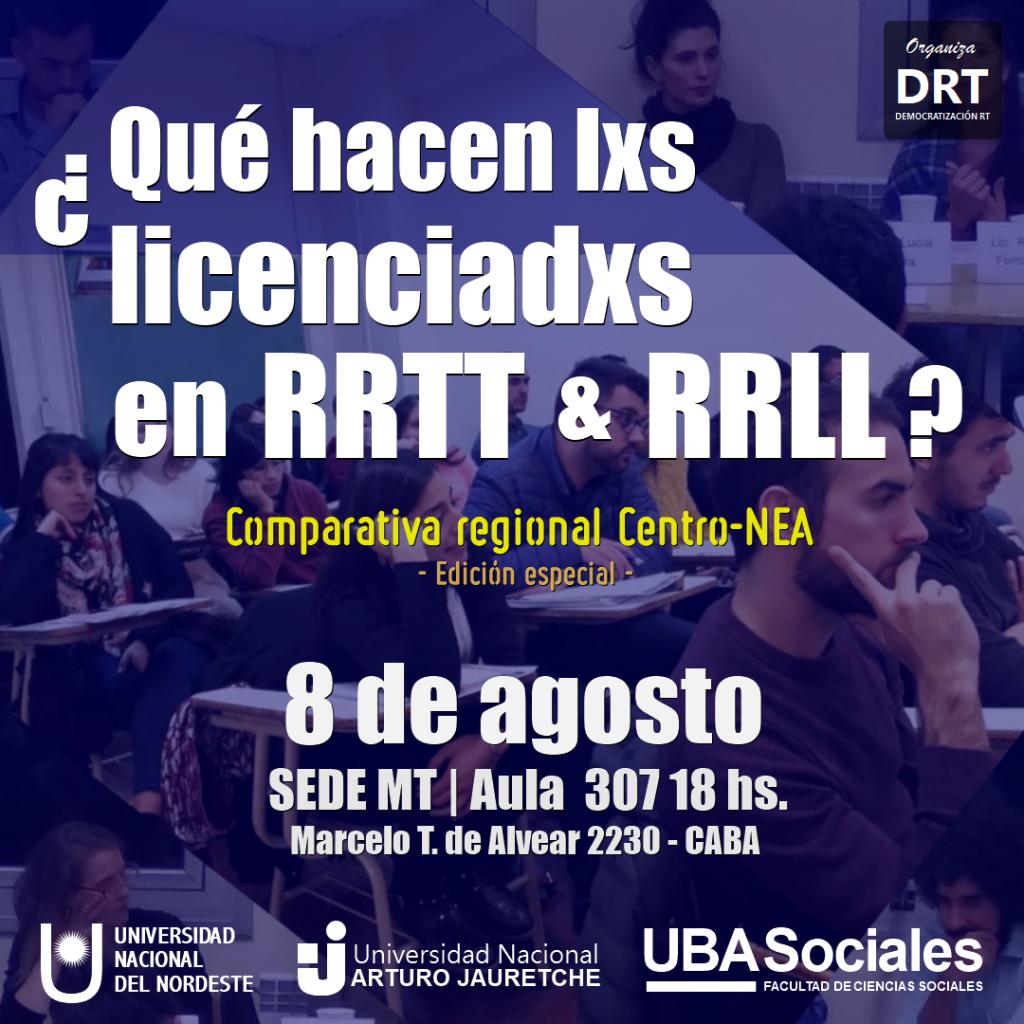 ¿Qué hacen lxs licenciadxs en RT/RRLL? EDICIÓN ESPECIAL: comparativa regional Centro-NEA