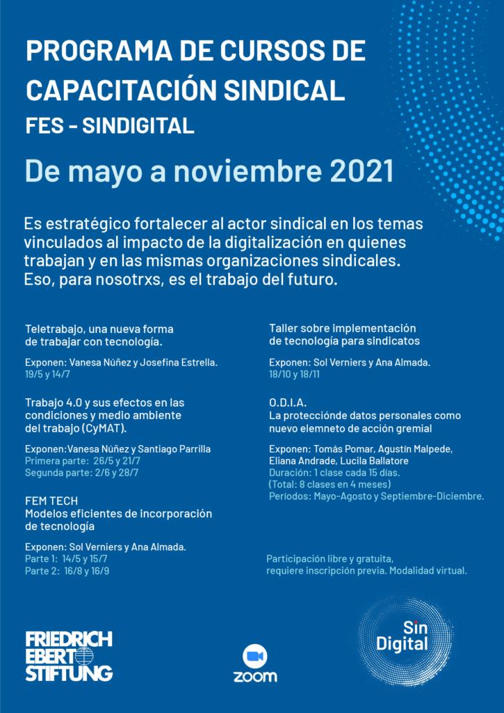 Cursos de capacitación sindical – FES Argentina y SinDigital