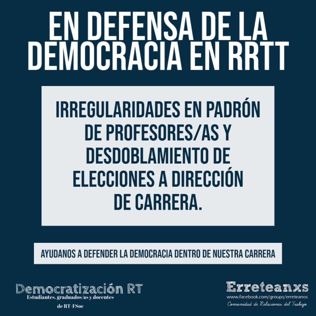 En defensa de la democracia en RRTT