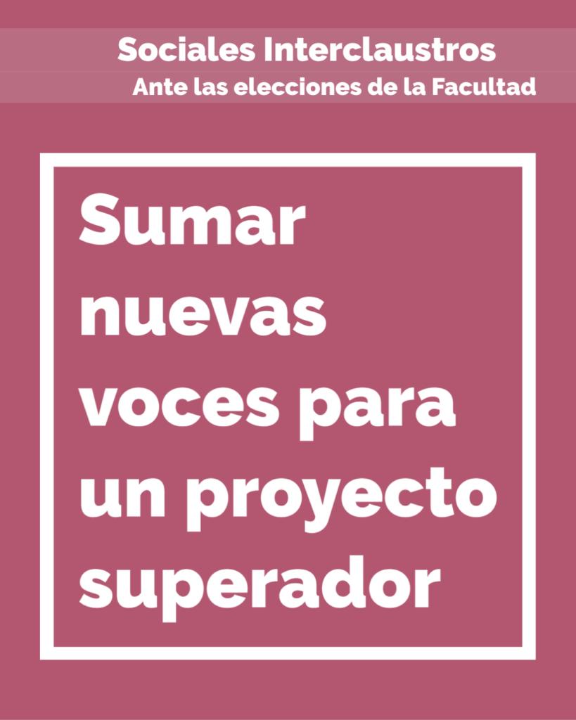 Sumar nuevas voces para un proyecto superador | Sociales Interclaustros