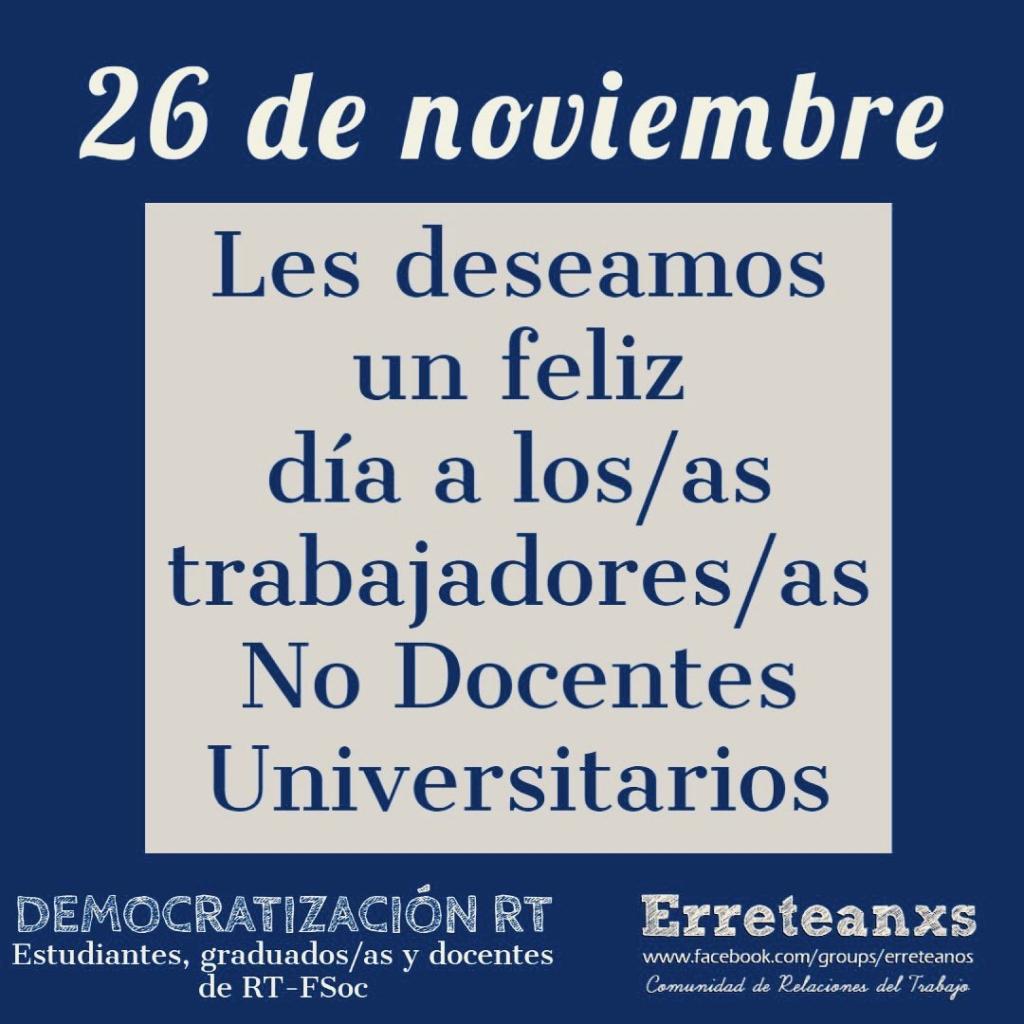 📅  26 de noviembre – día del trabajador/a no docente