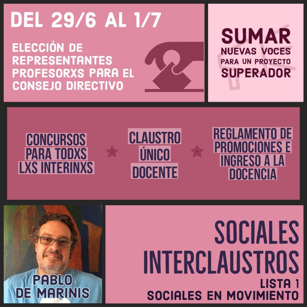 Elecciones 2021 – Claustro de Profesores