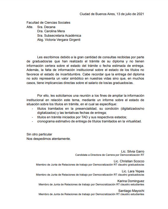 📋 Solicitud de informe sobre el estado de entrega de títulos