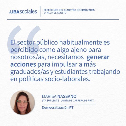 Marisa Nassano – 5ta Suplente | Conocé a nuestros/as candidatos/as