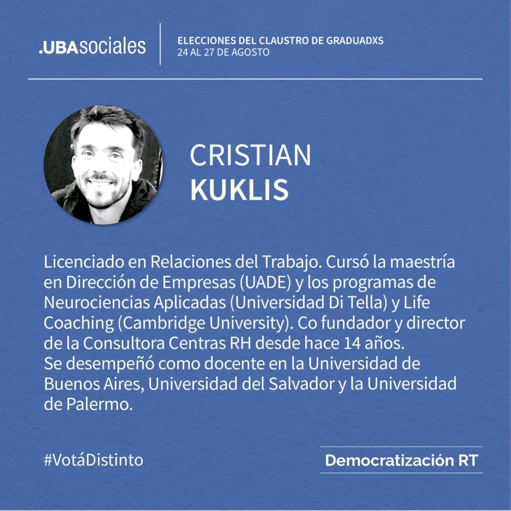 Cristian Kuklis – 4to Suplente | Conocé a nuestros/as candidatos/as