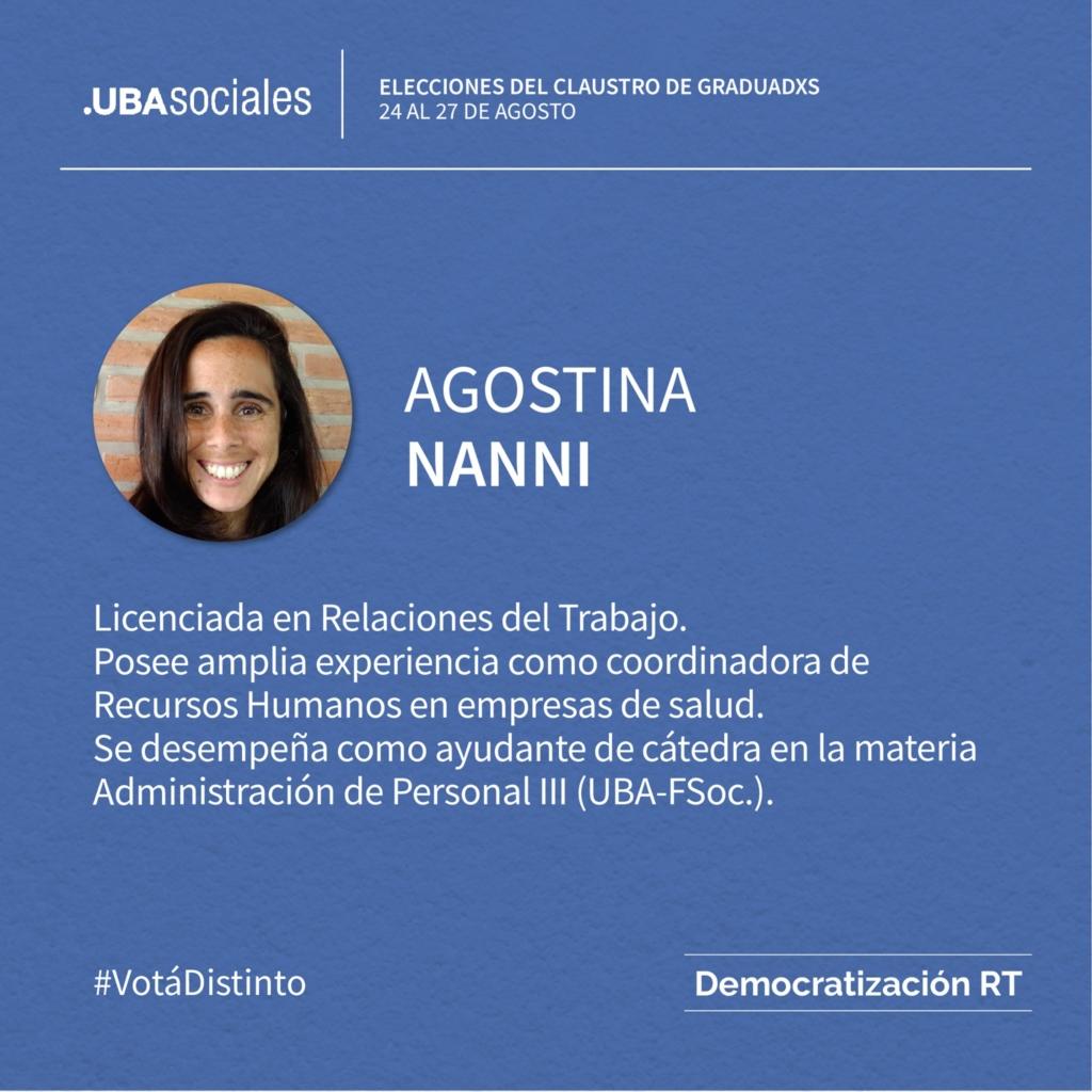 Agostina Nanni – 4ta Titular | Conocé a nuestros/as candidatos/as