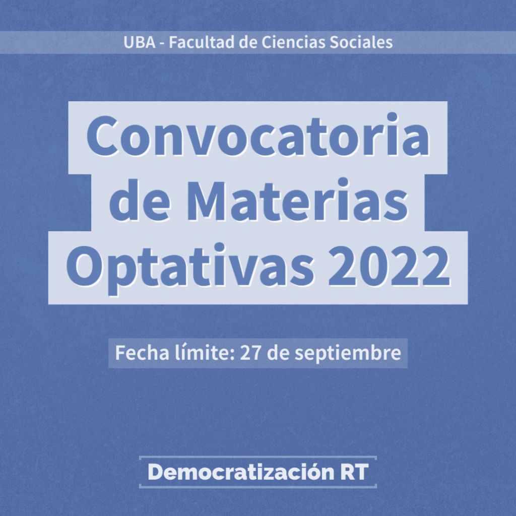 Convocatoria de Materias Optativas 2022